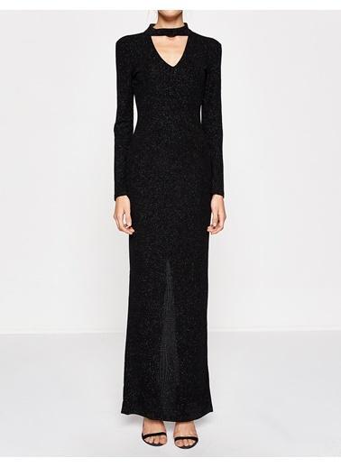Payetli Uzun Abiye Elbise-Koton